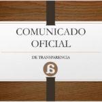 COMUNICADO OFICIAL DE TRANSPARENCIA